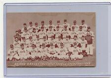 1947-66 EXHIBITS (NO #) BOSTON BRAVES 1948 N.L. CHAMPIONS TEAM CARD, 022019
