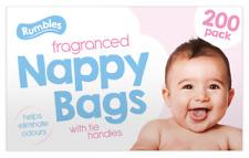 200 Disposable Nappy Bags Fragranced Plastic Hygienic Sacks Diaper Tissue Bags