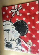 New Cath Kidston Disney Mickey & Friends Tea Towel Button Spot Red Minnie Mouse