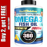 Ultra Pure Omega 3 Fish Oil 3000mg Small, Potent, Joint Pain Relief - XL 360ct