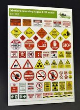 DioDump DD128 Modern warning signs - 1:35 scale printed diorama accessories