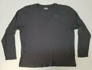 Under Armour Mens Shirt Size 3XL XXXL Gray Thermal Long Sleeve Pullover Coldgear