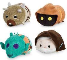 Disney 4 Star Wars Mini Tsum Tsum Plush Set Tatooine Obi Wan Tusken Greedo Jawa