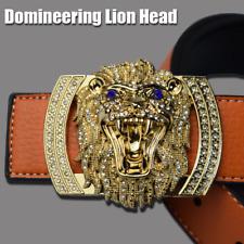 2019 Men's Classic lion head Buckle Handcrafted Genuine Leather Jean Luxury Belt