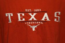 Texas Longhorns Est. 1883 Burnt Orange Red Oak Sports Wear T Shirt Size XL