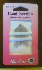 Hemline Size 5 / 10 Hand Needles x16 Tapestry Sewing Embroidery Crewel New