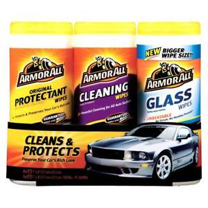Armor All Car Protectant, Cleaning and Glass Wipes, Auto Care Cleaning Kit