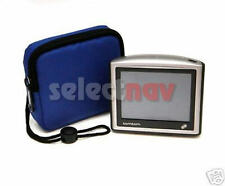 "BLUE ZIP CASE TOMTOM ONE v2 v3 NEW EDITION TOM 3rd BAG CARRY HOLDER 3.5"" THIRD"