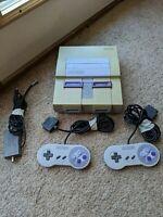 SNES Super Nintendo Console Bundle parts repair only Works but READ DESCRIPTION!
