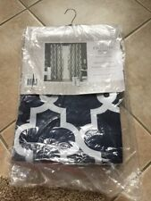 """EXCLUSIVE HOME IRONWORK SATEEN WOVEN BLACKOUT PANEL PAIR PEACOAT BLUE 52"""" x 63"""""""