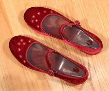 NEW Skechers Mystics Redeem Red Burgundy Velvet Kawaii Mary Janes Womens Size 11