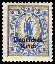 Germany Deutsches Reich 1920 Mi. Nr. 130 1 1/4 M Bavaria Definitive Opt. MH