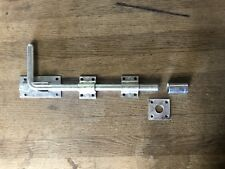 Galvanised Drop Bolt - Gate Garage Barn Stable Shed Door Security 12""