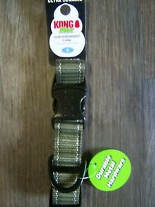 """Kong Max Strong Dog Collar Anti Chew Resistant Green Neck Size S: 10""""-14"""""""