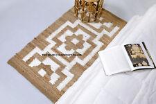 100% Jute Rectangle Indian American Braided style rugs Reversible rustic look