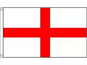 Large England St George Cross Flag 5ft x 3ft Football Euros Rugby 6 Nations Pubs