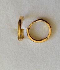 Hoop Earrings 0.99Grams 18k Solid Yellow Gold