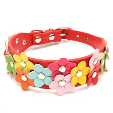 Adjustable Pet Dog Collar PU Leather Small Puppy Neck Strap Necklace Pet Supply