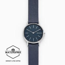 Skagen Ladies' Signatur Slim Blue Leather Watch SKW2728