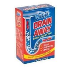 Duzzit DRAIN AWAY DRAINS UNBLOCK CLEANING SINKS SHOWERS BATHS HOME BATHROOM SINK