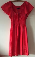 NWT SPORTSGIRL Red Short Sleeve Summer Viscose Dress Size 8 RRP $89.95