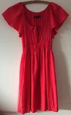 NWT SPORTSGIRL Red Short Sleeve Summer Viscose Dress Size 8 RRP $89.95