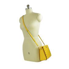 NWT Michael Kors Sylvie Studded Leather Messenger Bag In Sunflower