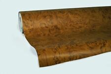 """Professional quality Maple wood grain knotty 1ft x 48"""" pre-laminated wrap"""