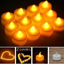1-48X LED Tea Lights Candles Flameless Battery Operated Wedding Xmas Warm White