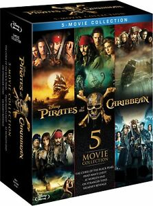 Pirates of the Caribbean 5 Movie Collection 1 2 3 4 5 Five New Region B Blu-ray