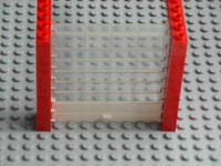 Lego Town - Garage Roller Door / Overhead Shutter - Red w/ Clear, White -GMT31