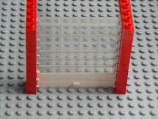 Lego Town - Garage Roller Door / Overhead Shutter - Red w/ Clear, White -GMT31