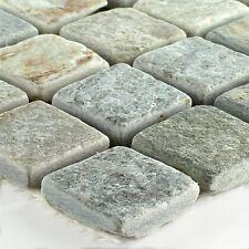 Mosaikfliese Quarzit Beige Grau 22x22mm - 1 Matte