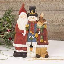 Santa, Snowman & Reindeer Christmas Decoration Figurines Set