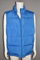 LANDS' END NEW $80 600 Down Fill Zip Vest in Boreal Blue Men's Large
