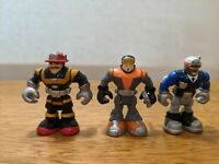 Lot 3 Mini RESCUE HEROES Micro Adventures Firefighter Billy Blaze & More 2 Inch