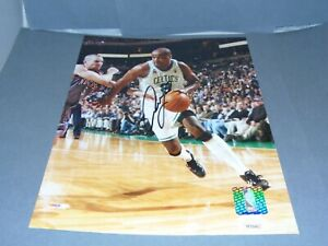Antoine Walker Signed Boston Celtics 8x10 Photo Autographed JSA COA 1A