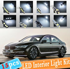 15-pc White Canbus LED Interior Light Package Kit Fit 10-15 BMW 5Series F10 F11