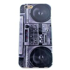 """Boombox Cassette Tape Player TPU GEL Case Cover Skin for Apple iPhone 6 6S 4.7"""""""