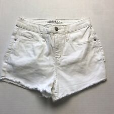 Wild Fable White High Rise Jean Short Size 0 A1200
