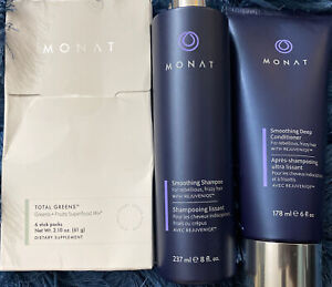 *MONAT SMOOTHING SHAMPOO & CONDITIONER SET *FOR THICK / CURLY HAIR* NEW!& SEAL