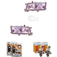 Scheinwerfer Set für Nissan Primera P10 Bj. 90-97 inkl. PHILIPS Lampen
