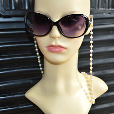 Eyeglasses Pearls Chain Glasses Sunglasses Pearl Holder Necklace Cord