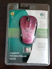 NEW - SEALED PKG Logitech Wireless Mouse M305 w/ nano receiver - Pink w/detail