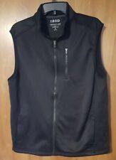 IZOD  Advantage Performance Natural Stretch  Full Zip Vest Pockets Mens Size M