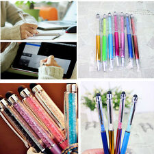 1 Pcs Crystal 2 in1 Stylus Touch Screen Pen for Tablet Phone Ball Point Pens