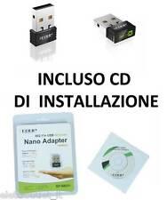 Antenna Nano Mini USB Wireless WiFi Chiavetta WI-FI penna 150 Mbps Adattatore