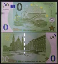 0 euro souvenir biljet de pier Scheveningen Het Binnenhof Den Haag memoeuro €0