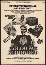 HERSCHELL GORDON LEWIS HORROR__Original 1985 Trade print AD_poster__2000 MANIACS