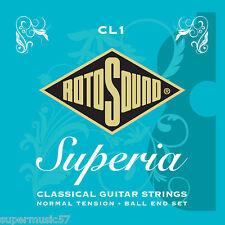 Rotosound CL1 Superia nylon Ball End guitare classique cordes normal tension
